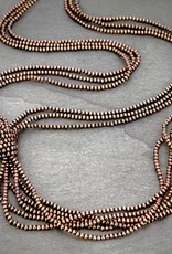 NECKLACE COPPER NAVAJO PEARL MULTI STRAND XL KNOT