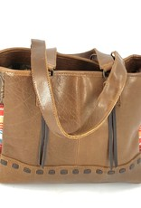 PURSE STS REMNANTS TOTE SULTRY TAN LEATHER HIDE BLANKET CONCEALED CARRY LARGE