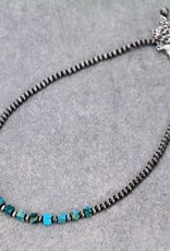 """NECKLACE NATURAL STONE NECKLACE 15"""" ADJUSTABLE"""