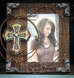 WESTERN MOMENTS Frame 4x6 Wood Cross TQ