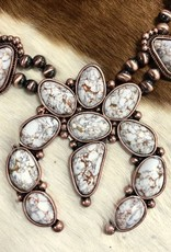 SQUASH BLOSSOM COPPER WHITE STONE SET