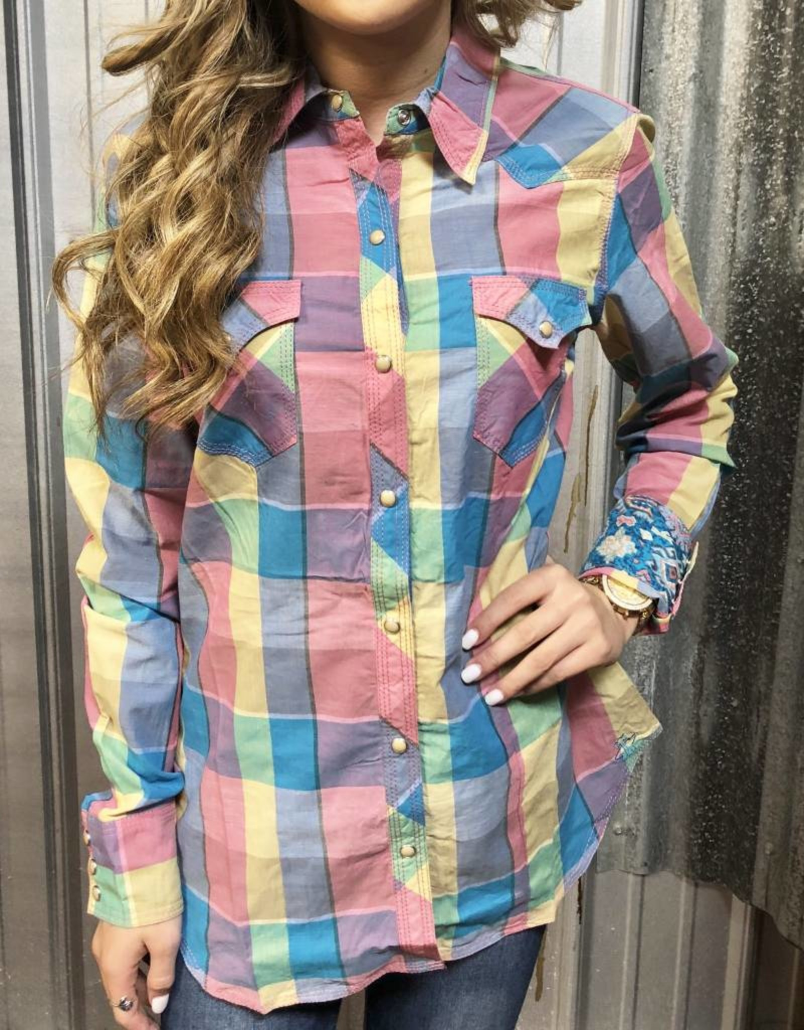 TIN HAUL WOMEN L/S SHIRT RETRO CHECK