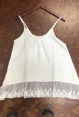 SLEEVELESS LACE CAMI CREAM