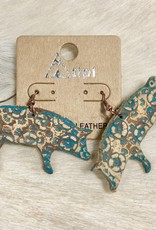 EARRING PIG LEATHER LARGE