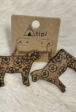 EARRING COW LEATHER LARGE