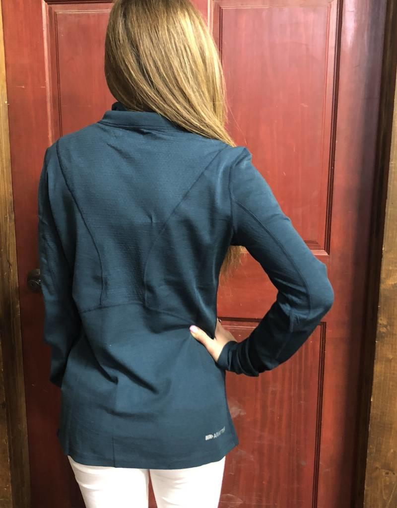 ARIAT WNS CADENCE WOOL TEAL 1/4 ZIP