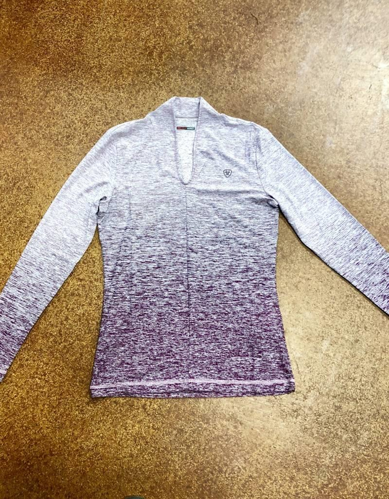 ARIAT WMNS PENNANT BASELAYER BEATROUTE OMBRE TEK SHIRT MOISTURE WICKING