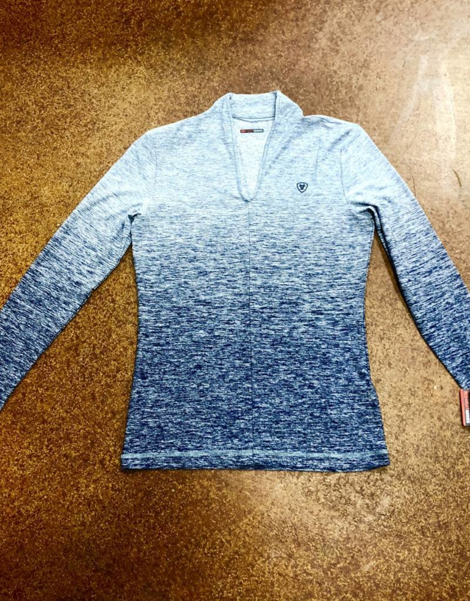 ARIAT WMS NAVY BASELAYER NAVY OMBRE SHIRT TEK MOISTURE WICKING