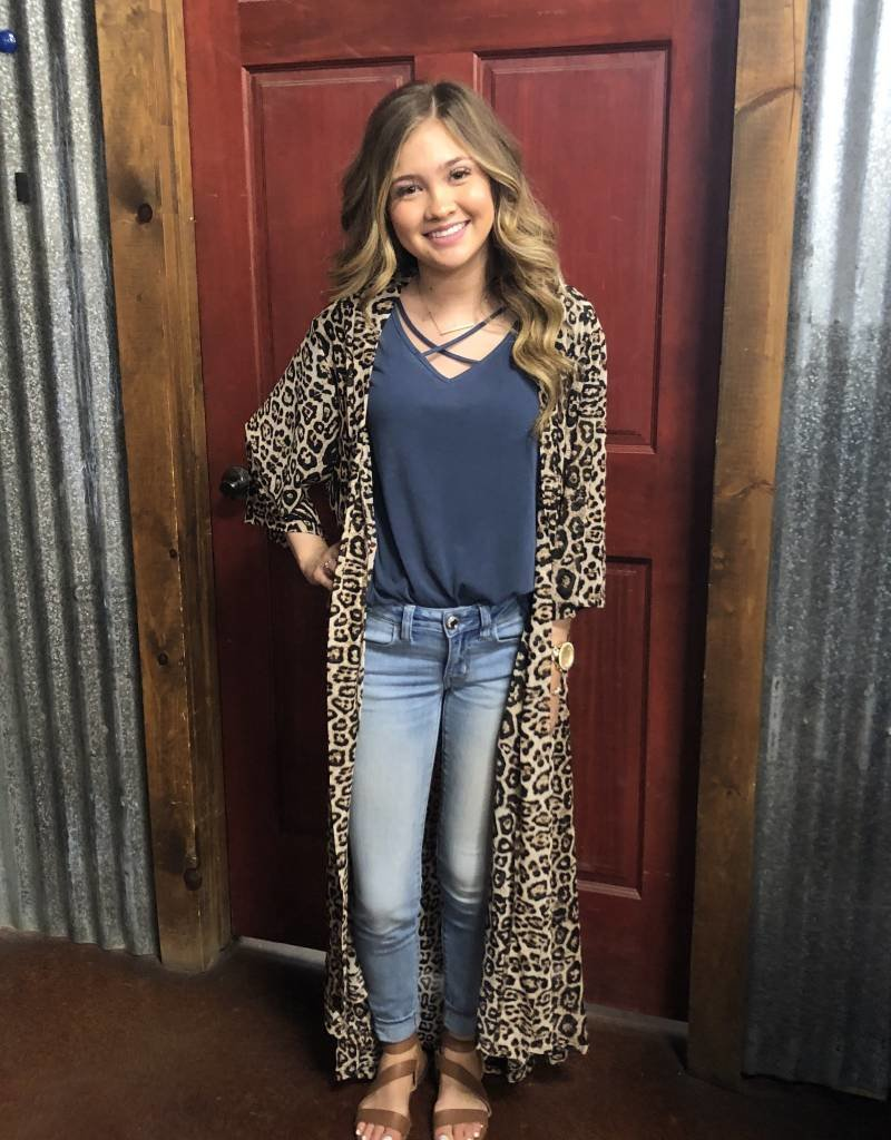 WNS DIXIE DUSTER LEOPARD onesize