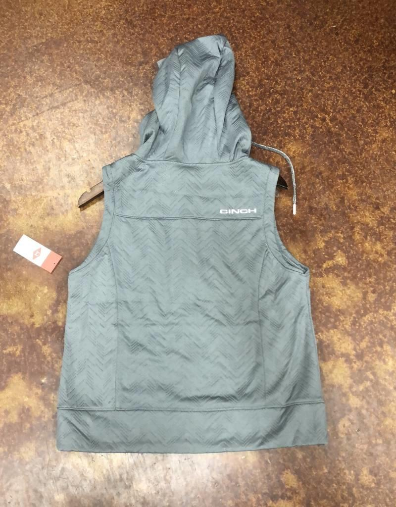 CINCH WNS CINCH EMBOSSED VEST GRAY MAV7840001