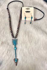 NECKLACE SET ARROW COPPER TURQUOISE