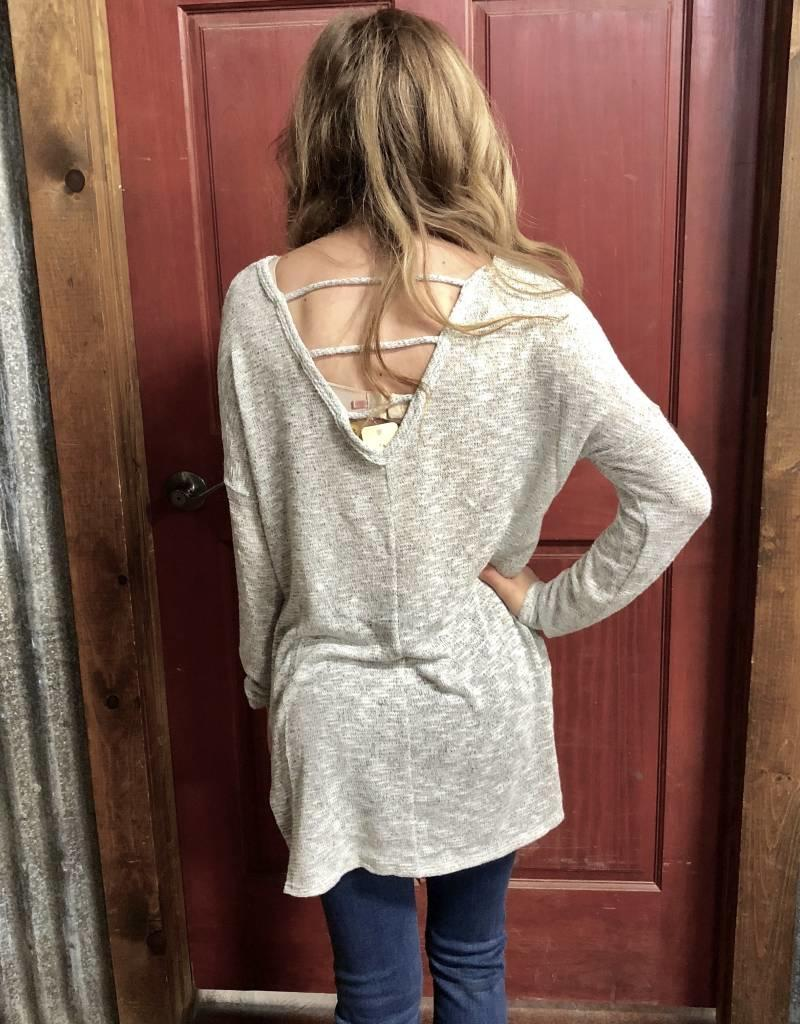 ROPER WMS GREY LIGHT WEIGHT SWEATER SHIRT