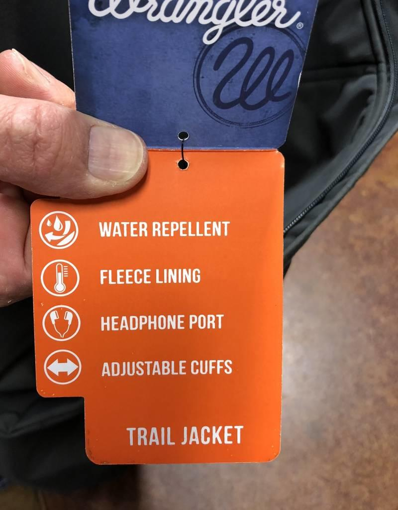 WRANGLER TRAIL JACKET GREY CONCEALED CARRY BONDED W FLEECE LINING