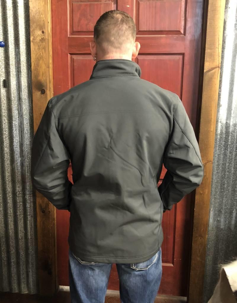 WRANGLER TRAIL JACKET TALL GREY CONCEALED CARRY BONDED W FLEECE LINING