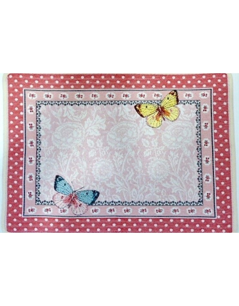Allegory Butterfly Rose Jacquard Placemat