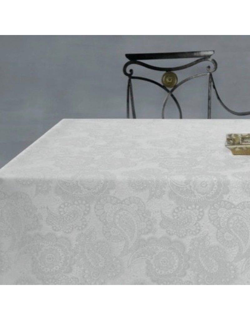 Acrylic-coated Klimt Floral, White