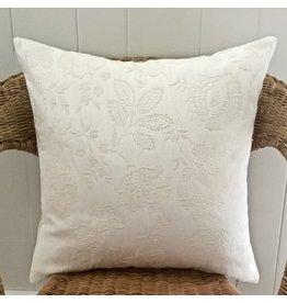 Lamanon Ecru Jacquard Pillow