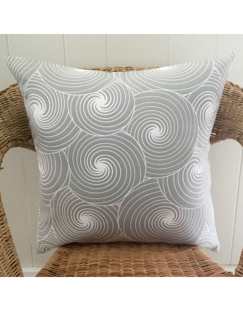 Julia Grey Jacquard Pillow