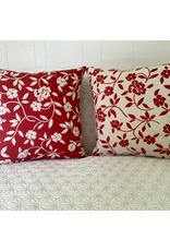 Mercurio Red Jacquard Pillow