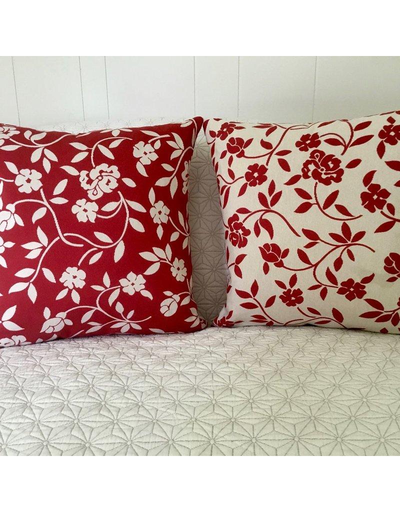 Mercurio Red Jacquard Pillow