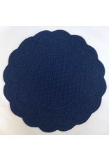 Quilted Round Placemat, Blue