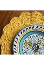 Quilted Round Placemat, Yellow