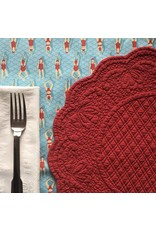Quilted Round Placemat, Red