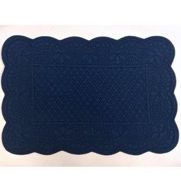 Quilted Rectangle Placemat, Blue