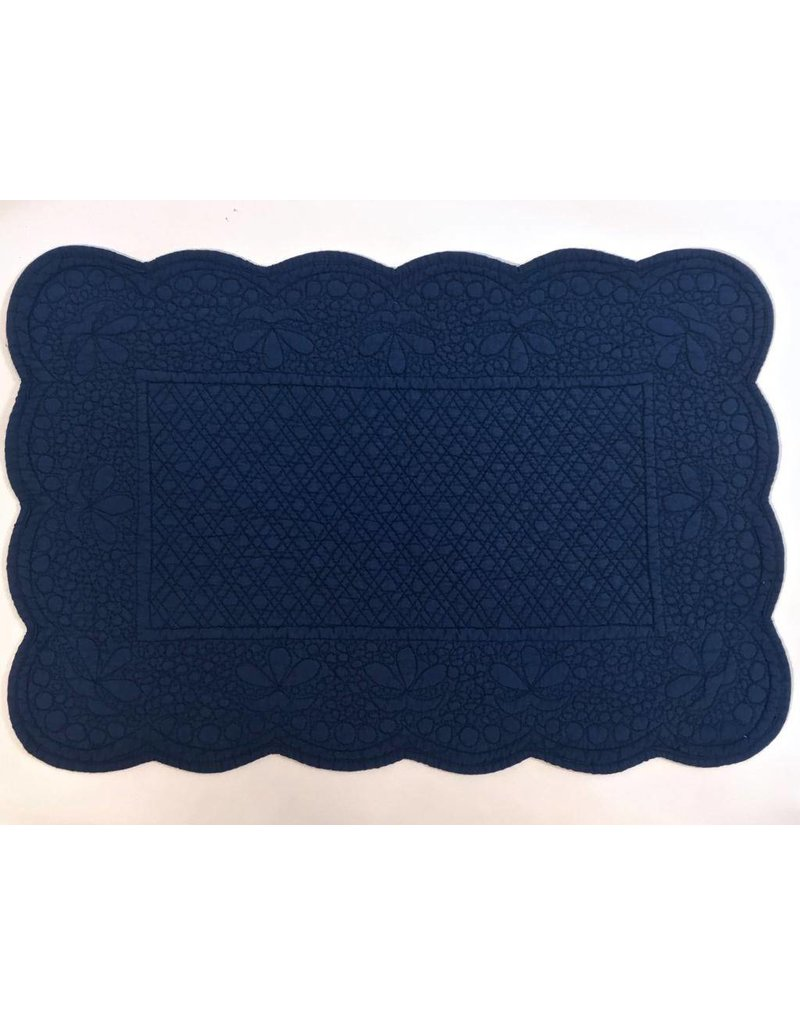 Quilted Rectangle Placemat Blue
