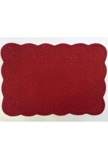 Quilted Rectangle Placemat, Red