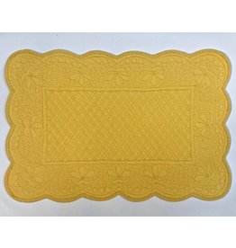 Quilted Rectangle Placemat, Yellow