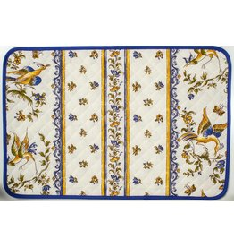Placemat Acrylic-Coated Moustiers Blue