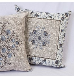 Aubrac Blue Jacquard Pillow