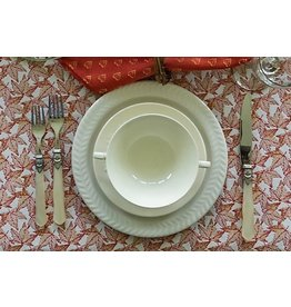 Autumn Leaves Jacquard Placemat, Red