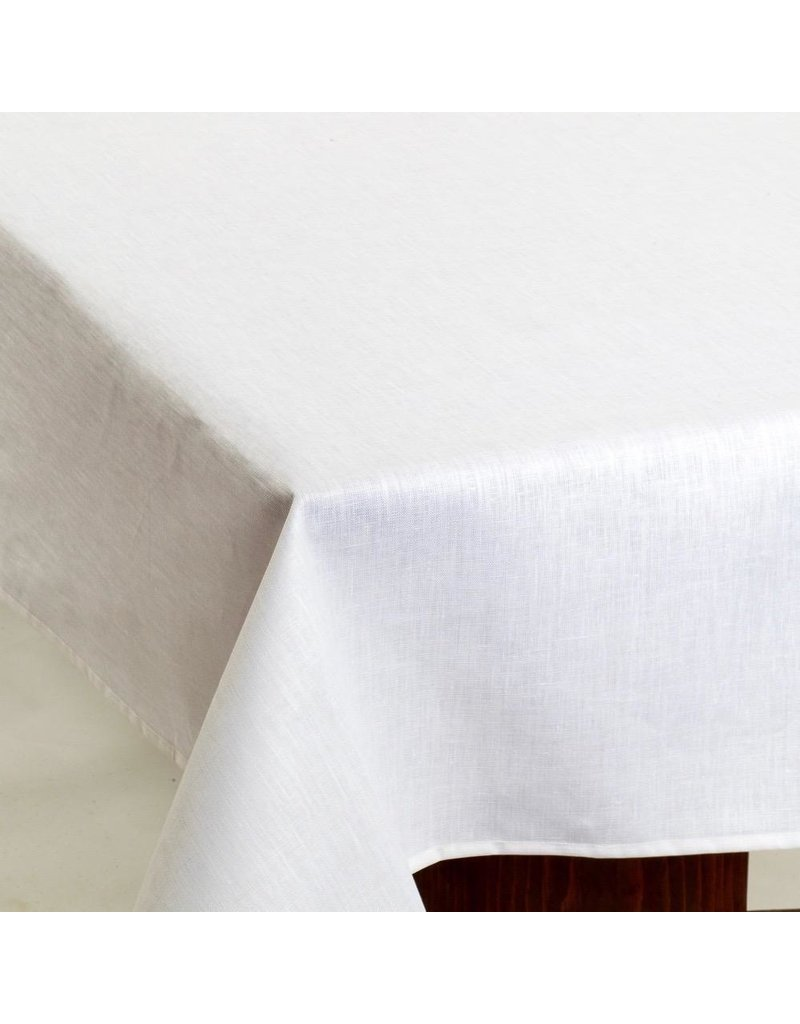 Acrylic-Coated Linen, White
