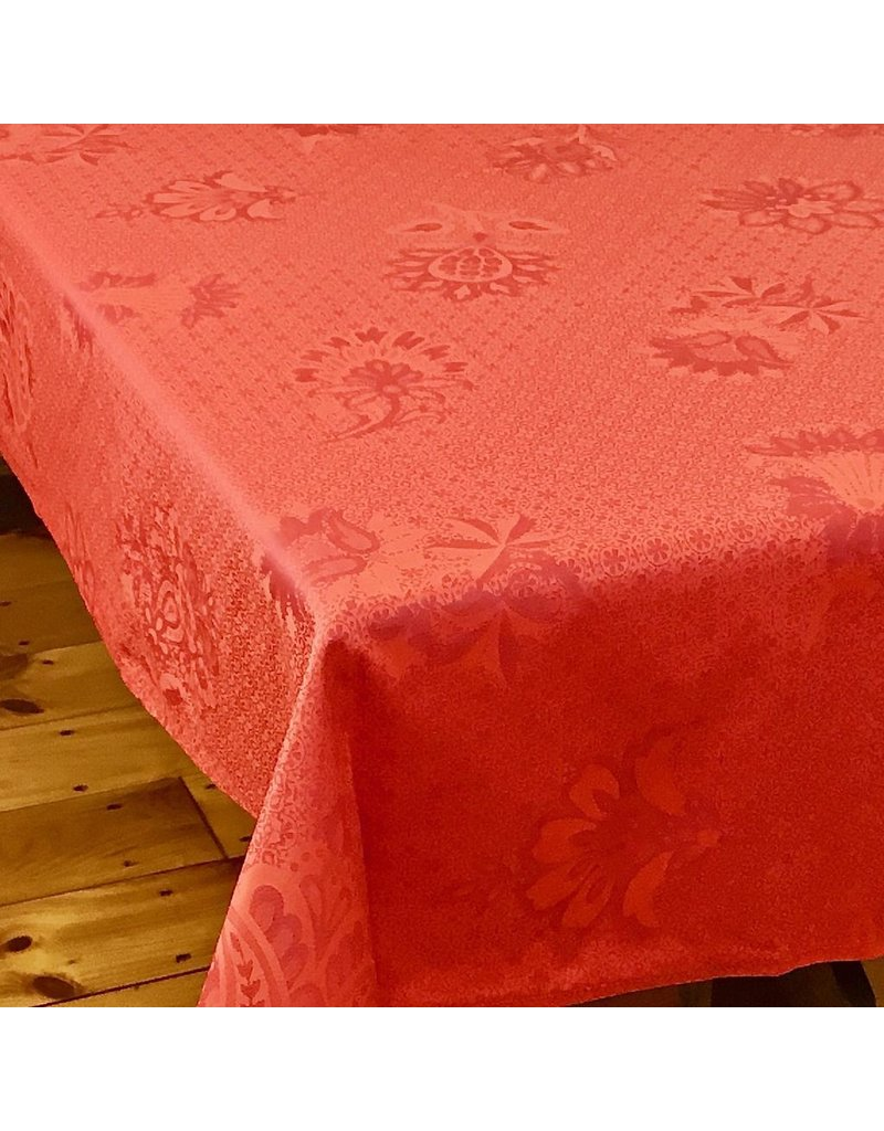 Acrylic-Coated Ribeauville Jacquard, Red