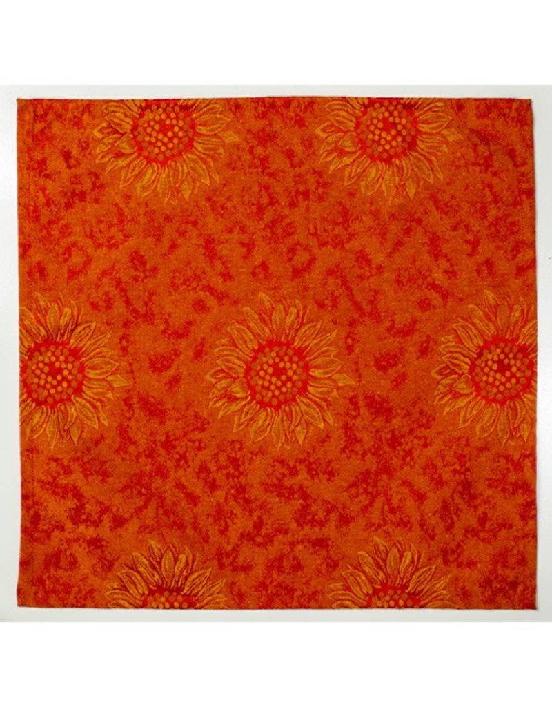 Napkin Sunflower Red