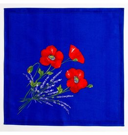 Napkin Poppies Blue