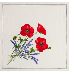 Napkin Poppies Ivory