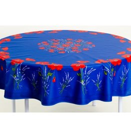Acrylic-coated Poppies Blue 70 in Round