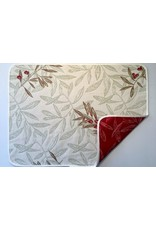 Auriol All Over Reversible Jacquard Placemat, Red