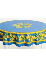 Acrylic-coated Lemons Blue 70 in Round