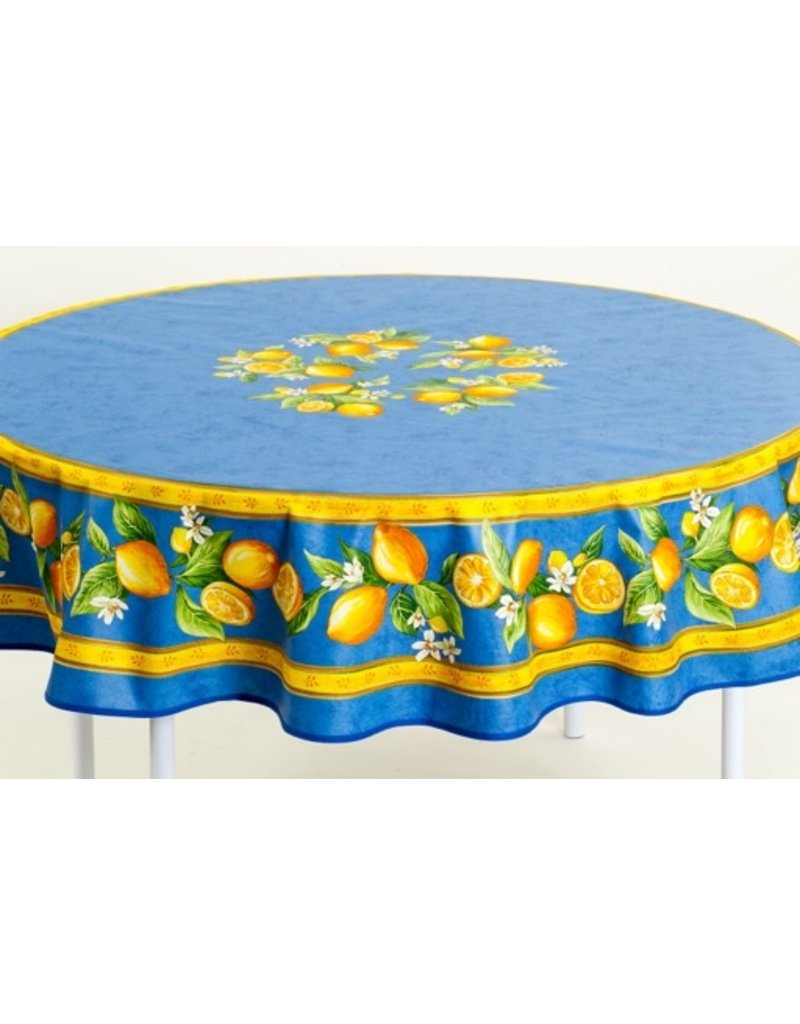 Acrylic-coated Lemons Blue 70 in Round