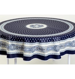 Cotton Bastide Navy 70 inch Round