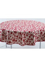 Mercurio Reversible Jacquard Round, Red