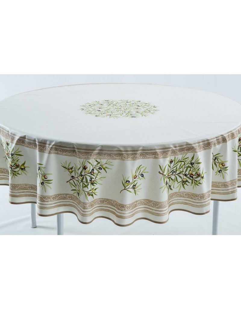 Cotton Olives Ivory 70 inch Round