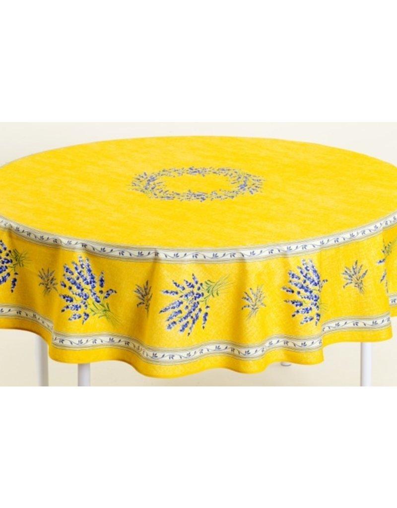 Cotton Valensole Yellow 70 inch Round