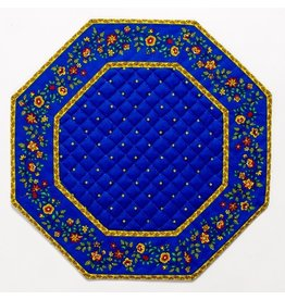 Blue w/ Yellow Calison Fleur Octagonal Placemat