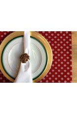 Lorenzo Reversible Jacquard Placemat, Red