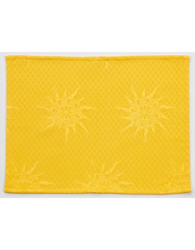 BB Jacquard Placemat, Yellow